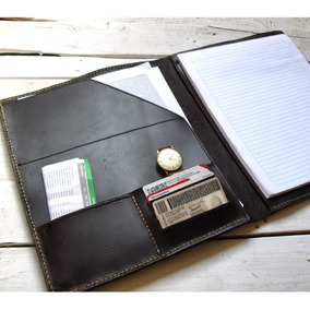Padfolio Carta Color Café Oscuro 100% Piel