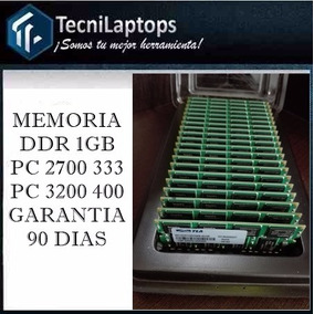 Memoria Para Laptop 1gb Ddr Pc 2700 333mhz Pc 3200 400mhz
