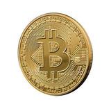 Bitcoin Btc Onza Baño En Oro - Criptomoneda Mining Moneda