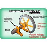 Kit Para Adaptar Molino Corona/otro A Motor Chumacera Polea