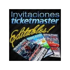 220 Plantillas Invitacion Ticketmaster Photoshop Editables