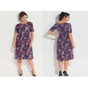 Vestido Extra Grande Moda Evangélica Plus Size 52,54,56,58