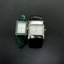 Lote Com 2 Rélógios Quartz Estilo Bracelete