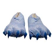 Pantuflas Garras Cómodas Peluche Pijama Unisex Color Azul