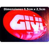 Emblema Givi Reflectivo Para Casco Moto Parabrisa En Resina