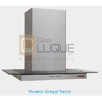 Campana Cocina Ecoclima Gregal Cristal Recto 750 C/ Motor