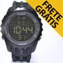 Relógio Masculino Barato Preto Esportivo Luz Digital Arlam