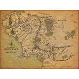 Poster Mapa Tierra Media Señor De Los Anillos 33 X 43 Cm