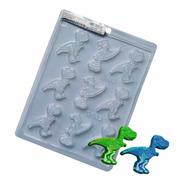 Forma Para Chocolate Dinossauro Ref. 9662 - Pct 5 Formas