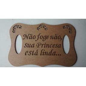 Placa Casamento Personalizada Kit Com 2 - Mdf Cru