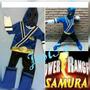 Disfraz Power Ranger Samurai Azul