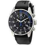 Q-a1-4 Divers Zeno Hombres De Negro Correa De Caucho Reloj