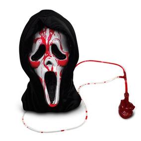 Máscara Pânico Com Capuz E Sangue Artificial