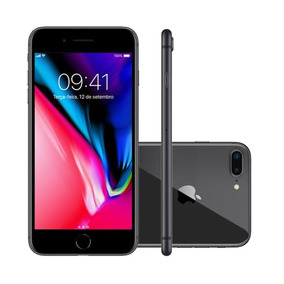 Iphone 8 Plus 5.5 Pol, Câmera 12mp Dupla + 7mp 64gb Cinza