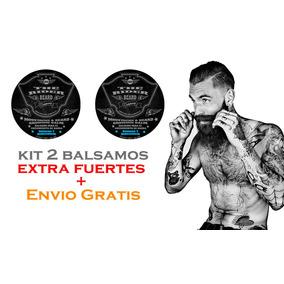 Kit 2 Balsamos Extra Fuerte P/ Crecimiento De Barba Y Bigote