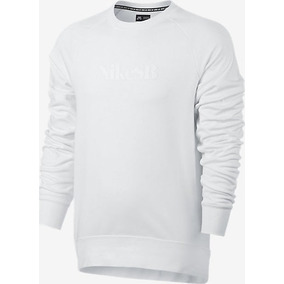 Moletom Nike Sb Everett Motion Crew - White