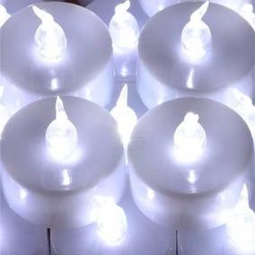 Vela Artificial De Led Decorativa Eletrônica Incluso Bateria