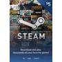 Tarjeta Credito Steam U$d 5 Dolares Gift Card Wallet