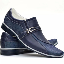 Sapato Casual Masculino Jeans Esporte Fino Combina Com Calça