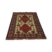 Alfombra / Tapete 3x5 Afghan Baluch Hand Knotted Soumak We
