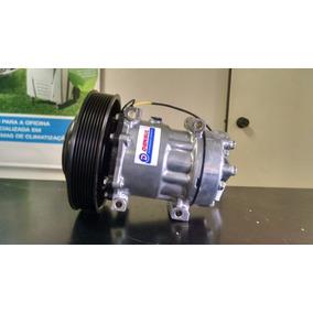 Compressor Ar Condicionado Caminhao Volvo Polia 180mm 24v