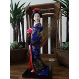 Muñeca Japonesa De Cerámica Geisha Kimono Oferta!