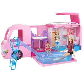 Trailer Dos Sonhos Barbie Mattel Fbr34 Original Onibus Van