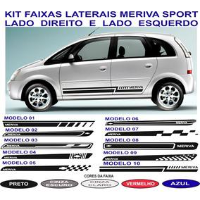 Acessorios Faixa Lateral Meriva Sport Gm Chevrolet Adesivos