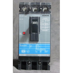 Pastilla Interruptor Termomagnético Siemens Ed 3p 40a 240v