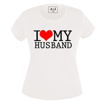 Paquete 2 Playeras Estampadas I Love My Husband/wife