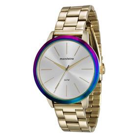 87f2df4e9be Relógio Mondaine Absolut Acrílico Aro Dourado 94384lpmgdp1 ...