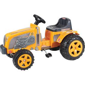 Trator Infantil A Pedal Trator Fazendeiro Amarelo Biemme