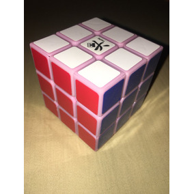 Cubo Rubik Dayan Guhong 3x3 Pink Base Rosa Stikers