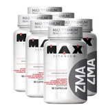 6x Pré Hormonal Testosterona Zma 90caps - Max Titanium