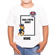 Camiseta Personalizada Patrulha Canina Foto Pronta Entrega