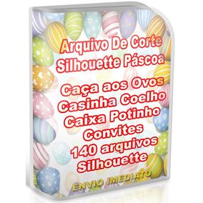 Kit Corte Páscoa 140 Arquivos Silhouette Mais Caça Aos Ovos