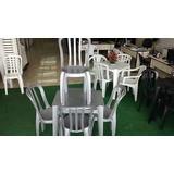 10 Jogos De Mesa Com 40 Cadeiras Cor Inox De Plástico