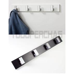 Perchero De Pared Moderno De Diseño Laqueado Blanco Negro