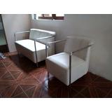 Vendo Muebles De Cuero Blanco