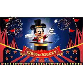 Painel Festa Banner Decoração 3 X 2 Mickey Magico Circo