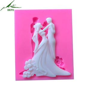 Molde Silicone Casal Noivos Forma Casamento Noiva Namorados