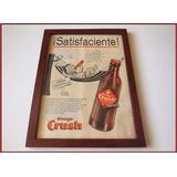 Dante42 Cuadro Publicidad Antigua Gaseosa Orange Crush 1954
