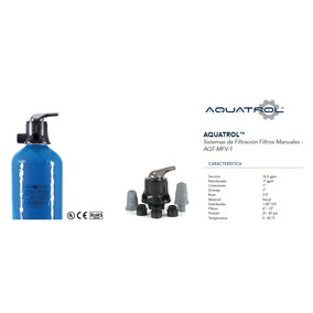 Filtro Carbon Activado 9x48 Aquatrol Sys-gac-mfv100-0948a