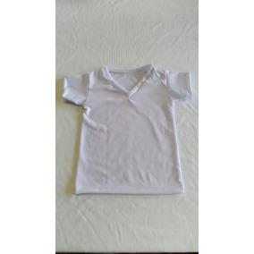 Camiseta Gola V Bebê Infantil P/ Sublimação 100% Poliéster