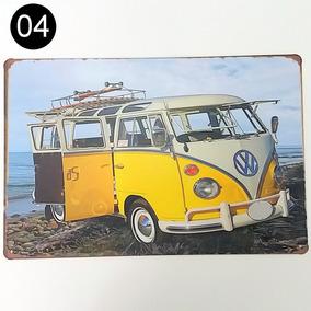 Placa Fusca Kombi Decorar Retrô Vintage Rota 66 Frete Grátis