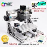 Máquina Cnc Router 1610 2 En 1 Corte Grabado Y Laser 2500mw