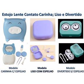 Estojo Lente Contato Divertidos Varias Modelos E Cores Cdi