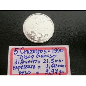 Moeda De 5 Cruzeiros Ano 1990