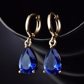 Brinco 18k Ouro Goldfiled Zirconi Diamante Rubi Etc L875