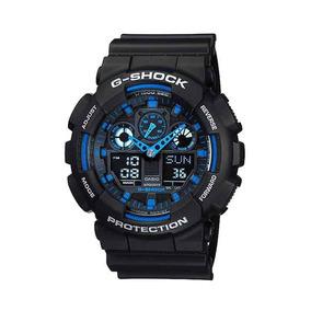 Reloj Casio Gshock Ga100 Color Negro Y Rojo Envio Gratis